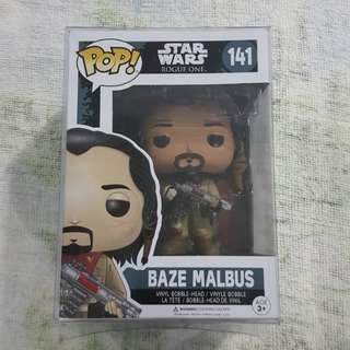 Legit Brand New With Box Funko Pop Star Wars Rogue One Baze Malbus Toy Figure
