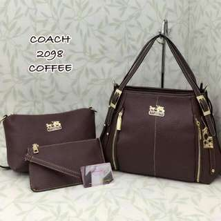 Coach Handbag 3 in 1 Coffee Color