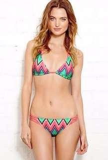 F21 neon bikini top and bottom