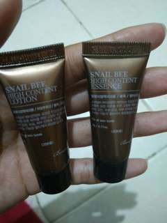 Free sample Snail benton essence dan lotion