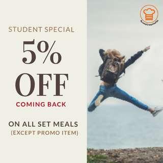 Crazy Chef SG Student Discount
