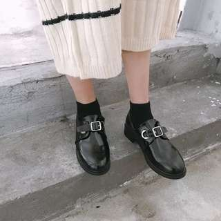 BN Black Buckle Glossy Shoes