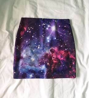 Galaxy Print Bandage Skirt
