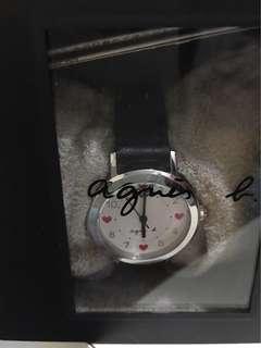 Agnes b 真皮手錶