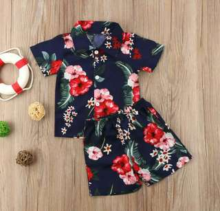 2pc Beach Boys floral outfit