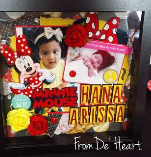 Box Frame - Crafting Momento newborn/gift/Birthday