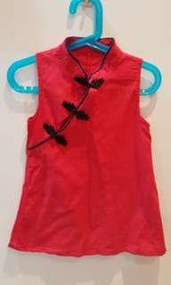 Cheongsam qipao red for 2-3 year old