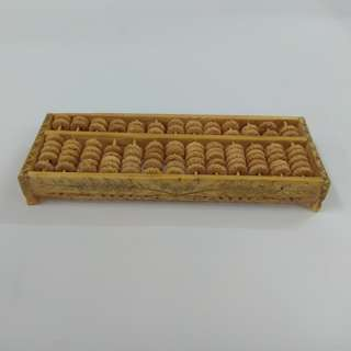 Vintage Chinese Collectibles Exquisite Handmade Cow Bone Carving Abacus