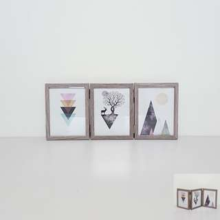 [For Rent] 3 Pieces Foldable Photo Frame SS001