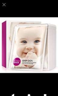 🚚 現貨2盒泊泉雅嬰兒肌幼滑保溼面膜嫩滑滋養補水💦 10片為單位