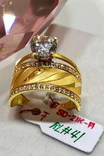 21k gold ring