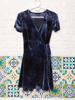 F21 Velvet Wrap Dress