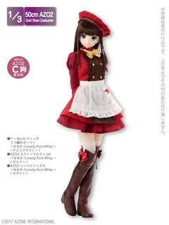 日本代購 現貨 bjd娃衣 50cm娃娃 azone3分連衣裙套裝bjd4分可穿