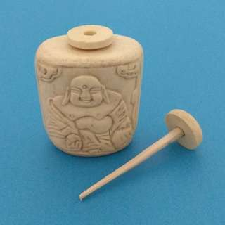 Vintage Collectibles Decorated Wonderful Miniature Handmade Cow Bone Carving Buddha Snuff Bottle