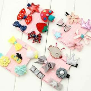 BN Pretty Girls' Assorted Flowers Bows Hair Clips Accessories Set