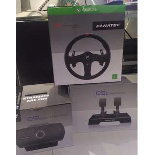Fanatec CSL Elite wheel base + wheel + pedals