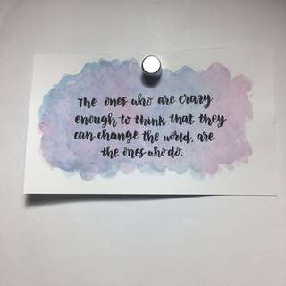 Customisable Watercolour Calligraphy Card