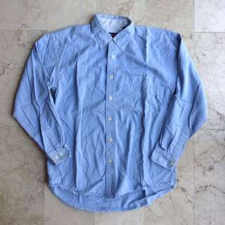 George and Martha Denim Longsleeves Polo for Men