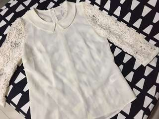 Bread n Butter White Lace Top 米白色上衣