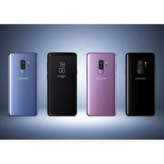 Samsung galaxy S9+ 64GB AND 256GB models all olours au stock