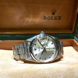 Rolex Oysterdate Precision Silver Manual Winding 6694 Wristwatch