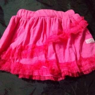 Fuschia pink skirt