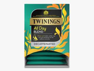Twinings ALL DAY DECAF - 15 PYRAMID BAGS (INDIVIDUALLY WRAPPED) 川寧低咖啡因茶 15個茶包裝(獨立包裝)