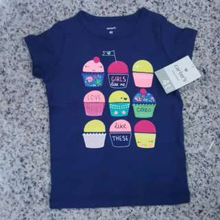 [INSTOCKS] Baby Girl Cute Cupcakes Tee