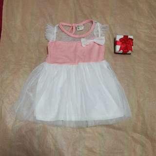 Lace Wedding pink n white tutu dresss