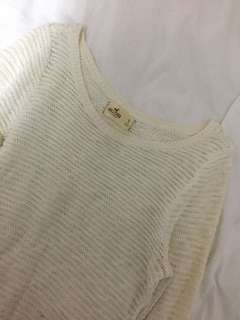 Hollister white sweater