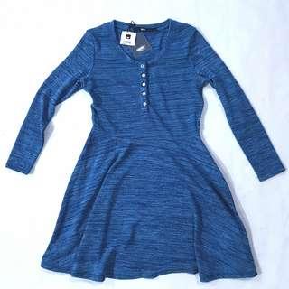Blue Mossimo Long Sleeve Dress