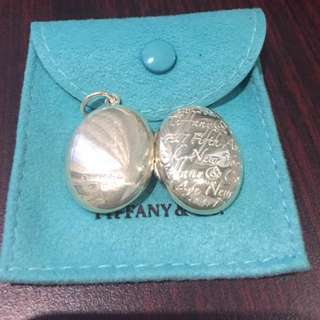"Authentic Tiffany & Co Silver 925 ""Fifth Ave"" Notes Locket"
