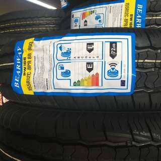 **2018 MEGA SALE!**  Brand New Bearway Light Truck Tyres 195/15C