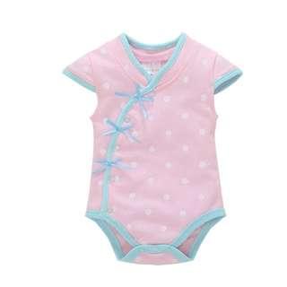 Cheongsam pink Polka dots Baby Romper