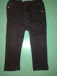 Skinny Jeans for baby 2pcs (Black ang Skyblue)