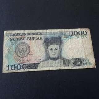 Duit Lama...indonesia 1000 rupiah tahun 1987 utk jual