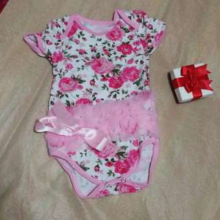 Floral Pink Baby Girl Romper