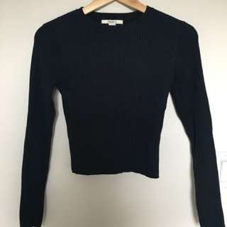 Size Xs forever 21 navy cropped sweater