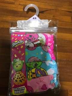 BN shopkin 4pc panties -4-6 yo