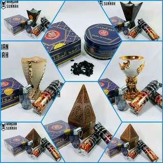 Set lengkap Oudh al Majlis 🌷  1 mabkhara/dapur 1 lighter 1 oudh al majlis 2 pek arang  Oudh al majlis antara yg paling laris kami jual 😍😘
