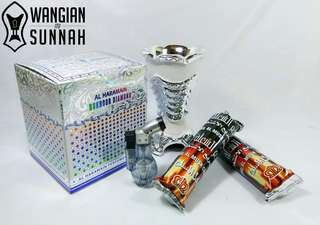 🌷 Set lengkap Bukhoor Diamond 🌷  1 mabkhara/dapur 1 lighter 1 bukhoor diamond 2 pek arang