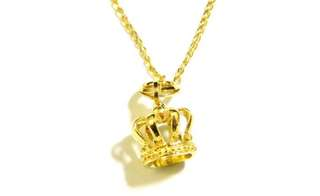 9 carat Yellow Gold Crown Necklace