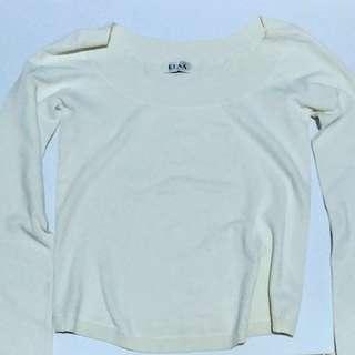 Cream Off-Shoulder Long Sleeves