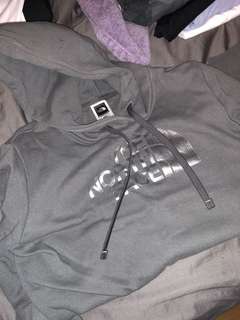 Grey North Face Sweater XS