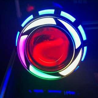 Lampu tembak projie rainbow 3.5 inc
