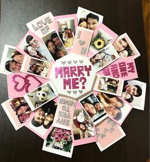 Marriage Proposal 3 in 1 Explosion Box Card