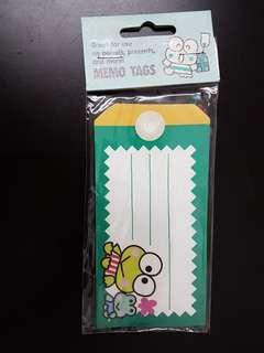 10張1995 Keroppi Memo Tags 紙牌