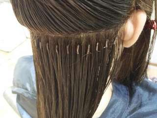 Hair extension ( no glue no ring)没有胶水没有发环