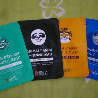 "PAKET ANIMAL MASK 4 VARIAN ""Dragon - Panda - Tiger - Otter"""