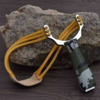 Powerful Aluminium Alloy Slingshot Crossbow Hunting Sling Shot Catapult Camouflage Bow Outdoor Camp